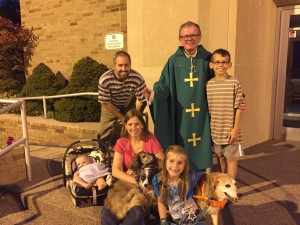 Blessing of the Pets Fr. Mike with Lenards 2