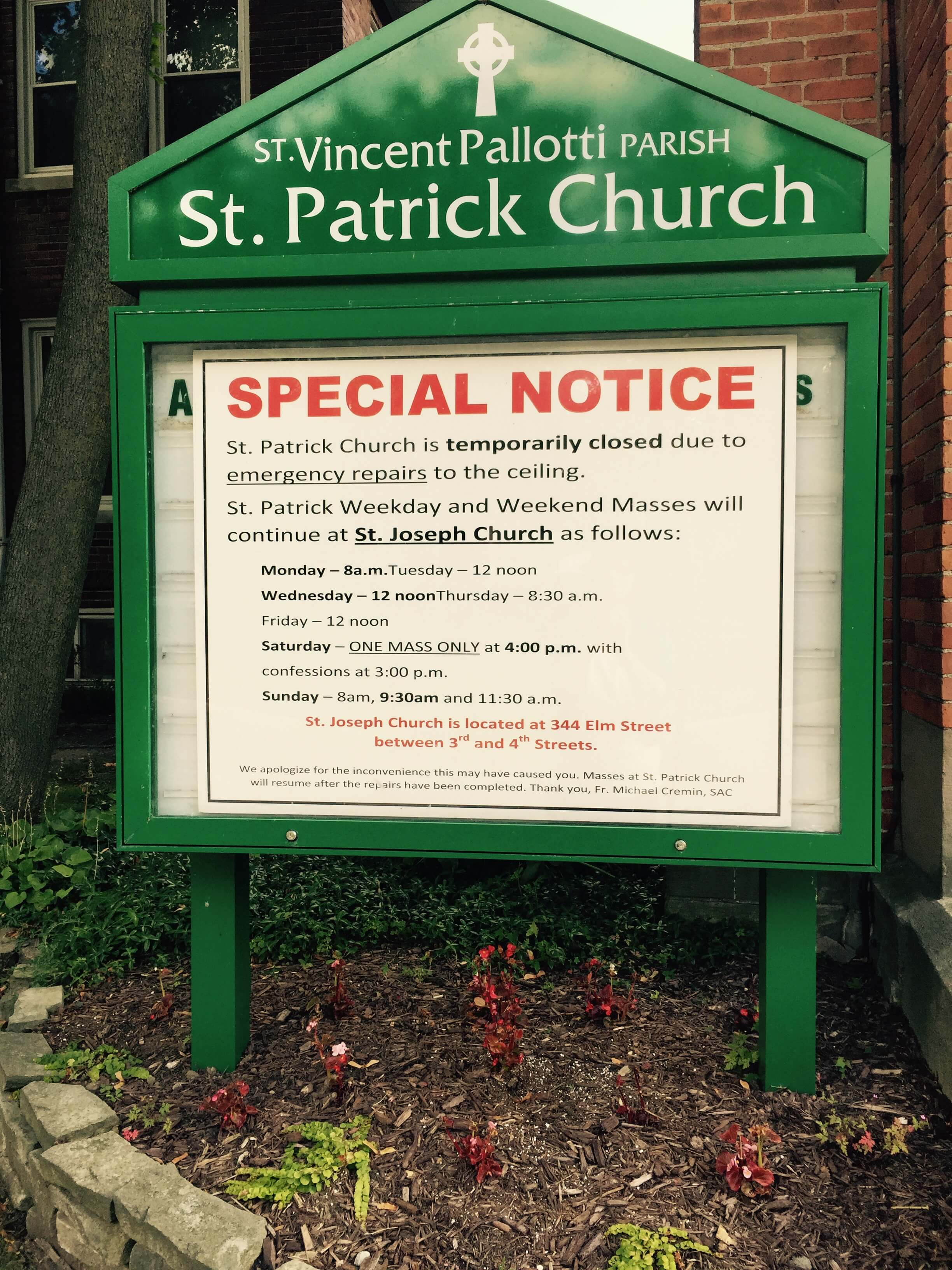St.-Patrick-Church-temporarily-closed