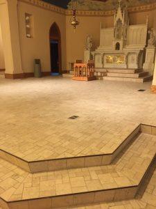 St. Pat's - Repair prep - Sanctuary stripped