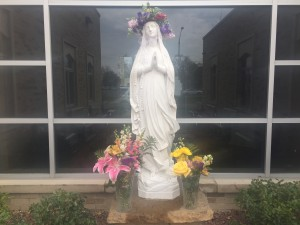 May Crowning 2016 Parish courtyard