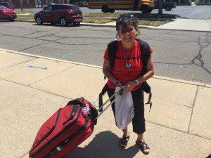 WYD - Pilgrim leader Julie ready to go!