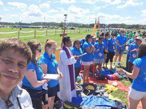 WYD - Pilgrim mass with Austrailians during festival