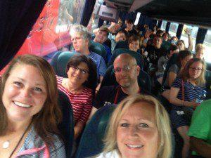 WYD - Pilgrim on the bus leaving Linz